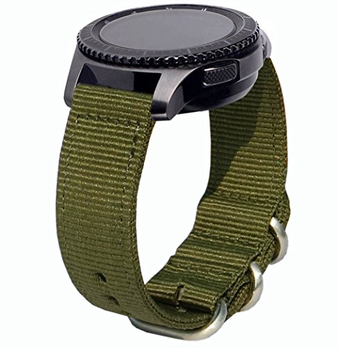 OTOPO für Galaxy Watch 46mm / Gear S3 Armband & & Huawei Watch GT / GT Active / GT 2 Armband, 22mm Nato Nylon Ersatzband Armband für Samsung Galaxy Watch 46mm & Gear S3 Smartwatch - NATO Armee Grün