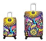 Equipaje, Maletas y Bolsas de Viaje - Premium Designer Maleta Rígida Set 2 Piezas - Heys Artista Limon Under The Sun Equipaje de Mano + Trolley con 4 Ruedas Grande