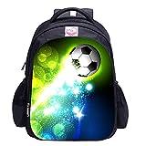 Mochila de fútbol para niños, mochila de impresión de fútbol Cool Football Pattern School Bag
