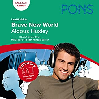 Brave New World - Huxley Lektürehilfe. PONS Lektürehilfe - Brave New World - Aldous Huxley Titelbild