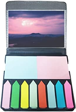 Pink Dark Clouds Sky Self Stick Note Color Page Marker Box