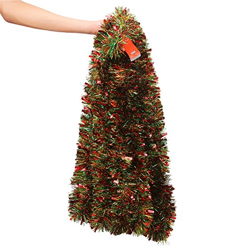 VEYLIN 10 Meter Xmas Tinsel Mixed Colors Tinsel Garland...