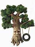 GlitZGlam Fee und Gartengnome Baum- Magische Großvater Miniatur-Baum mit abnehmbarem im Dunkel floureszierendem Willkommensschild für Feen und Rasen Gnomes