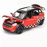 Outdoorking Model Car 1:32 Coche de juguete de escala miniatura para Mini para Podersman Diecast Aleación Metal Modelo Modelo de automóvil Pull Back Sound Light Coche Juguete Vehículos Para Niños Rega