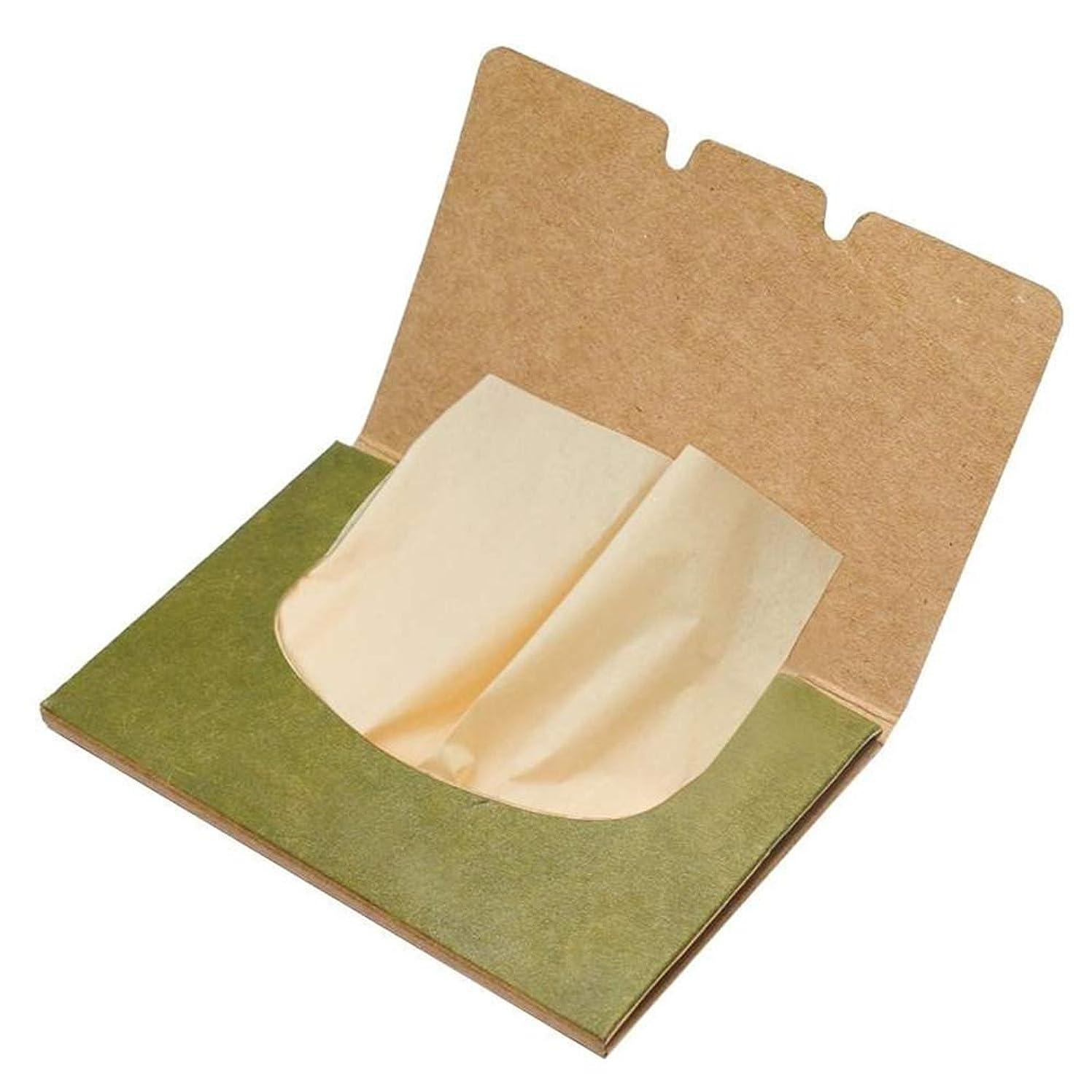無臭火山学者そこオイルコントロールブロッティングペーパー緑茶ユニセックス効果的なオイル吸収穏やかな顔面吸引洗浄シートスキンケア美容ツールポータブル
