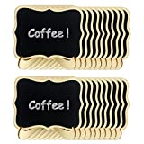 Ogrmar 20PCS Mini Tabletop Chalkboard Signs with Wood Base Stands for Food, Party, Wedding, Bar and Event Decoration