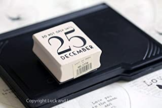 East Of India Do Not Open Until 25 December Rubber Stamp With Black Inkpad - Christmas Craft / Diy Gift Tags