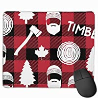 """Lumberjack Timber Buffalo Plaid Mouse Pad Non-Slip Rubber Gaming Mouse Pad Rectangle Mouse Pads for Computers Desktops Laptop 9.8"""" x 11.8"""""""