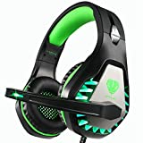 Butfulake GH1 Stereo Gaming Headset with mic & Splitter Cable for PUBG Over Ear Headphone Noise Isolation mic, Surround Sound, Compatible with PS4, Xbox one S/X, Switch, PC, Skype (Mint Green)