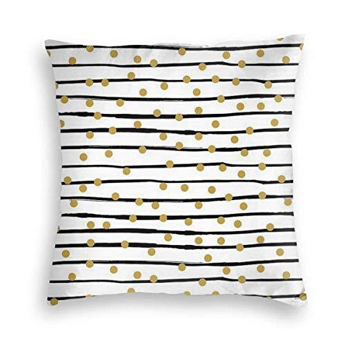 Moderner und urbaner Stil mit Punkten, handgemalt, dekorativ, für Sofas, Bett, Wohnzimmer, Sofakissen, Heimdekoration, Kissenbezug