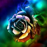 Colorido Flor Rosa 5D Diamante Pintura Conjunto Diamante Pintura Obra De Arte Hecha A Mano para Niña 40X40Cm