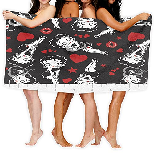 Large Puzzle Betty Boop toallas de lujo paños de la cara, toallas de mano, toallas de baño, sábanas de baño de calidad de hotel estilo moderno
