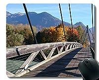 カスタマイズされたマウスパッド、Funny Bridgeパーソナライズされた長方形のゲーミングマウスパッド