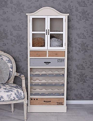 Vino estilo rústico Armario vitrina–Estantería madera vino Vintage Armario Palazzo Exklusiv