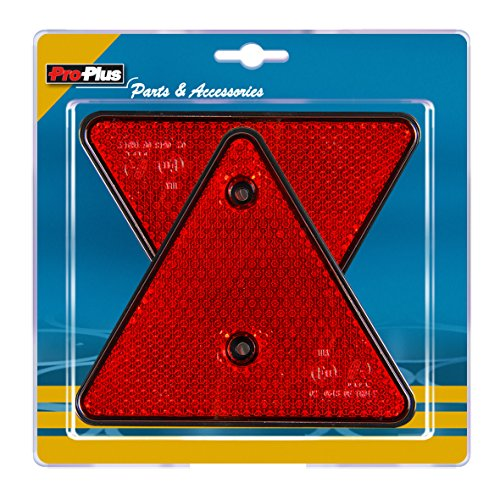 ProCar ProPlus 343751S Dreieck-Reflektor, Rot/Schwarz, 2 Stück