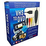 FONCBIEN Convertitore VHS in Dvd, USB 2.0 Audio Video Grabber Convertitore,Videoregistratore VHS/Capture Grabber Video USB per Windows 10/8/7