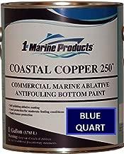 US Marine Products Coastal Copper 250 Ablative Antifouling Bottom Paint Blue Quart