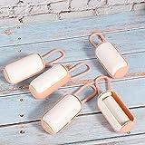 Resistentes al desgaste y duraderas, cajas de basura para desechos de mascotas, herramienta para desechos de mascotas para actividades al aire libre,(Pink+white)