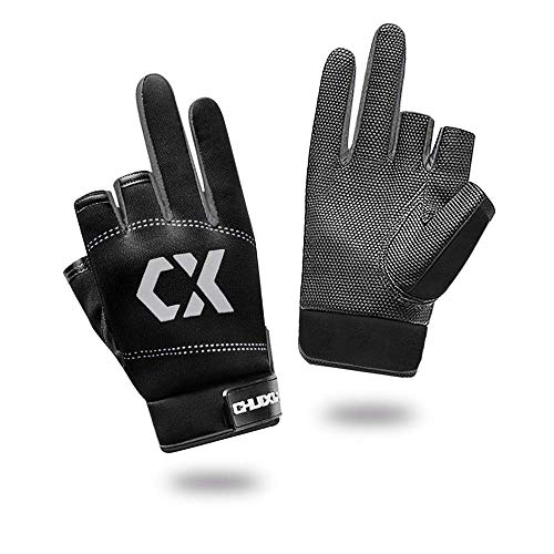 SUPBAO Guantes de pesca 3 dedos de corte antideslizantes guantes de pesca de hielo para clima frío Pesca fotografía motociclismo Ciclismo Caza