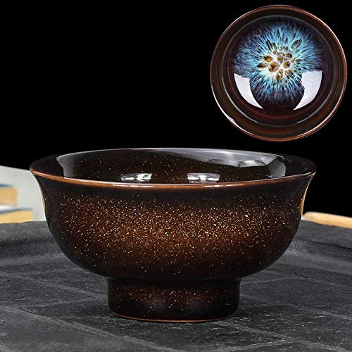 STZLY Horno Hermosa decoración de Transmutación Kongfu Bowl taza de té de cerámica, 03, capacidad: 60 ml, tamaño: pequeño, 6,9 x 3,5 cm