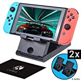 CamKix Playstand Compatible with Nintendo Switch - 2X Desktop Stand - Holds Nintendo Switch Upright - Multi...