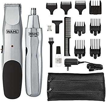 Wahl Groomsman Cord/Cordless Beard, Mustache, Hair & Nose Hair Trimmer