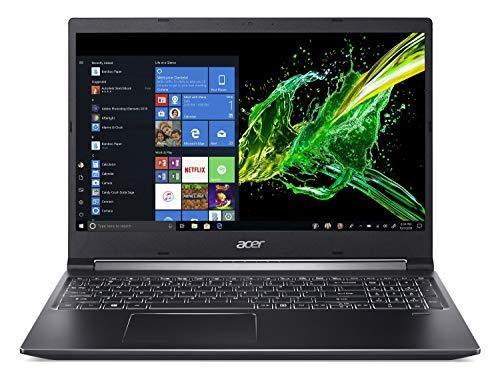 "Acer Aspire 7 Laptop, 15.6"" Full HD IPS Display, 9th Gen Intel Core i7-9750H, GeForce GTX 1050 3GB, 16GB DDR4, 512GB PCIe NVMe SSD, Backlit Keyboard, A715-74G-71WS"