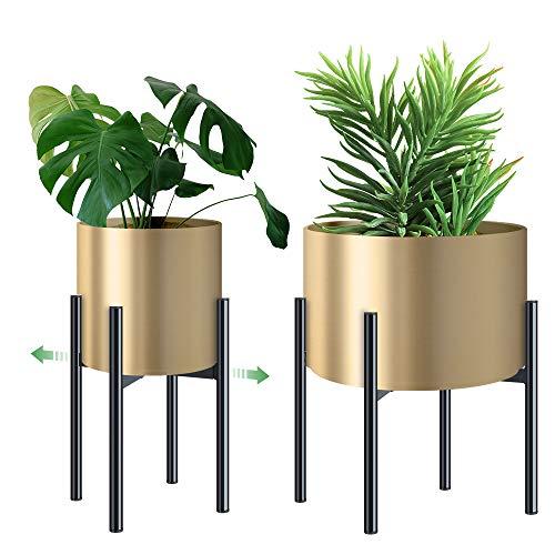 Soporte para Plantas Metal Elegante - Ajustable Soporte Macetas para Flores, Fácil Montaje Soporte Estable y Duradero para Maceteros Ø 21-30 cm, Jardinería Decoración de Pedestal Interior Exterior