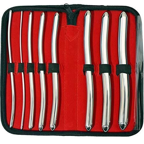SurgicalOnline 8 Hegar Dilator Sounds Set 7.5' Double Ended Instrument (Double Ended)