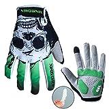 JPOJPO Full Finger Cycling Gloves for Men Women,Bike Gloves with Touch Screen Function