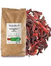 Biologische hibiscusbloesem, thee, hibiscusbloemen, gedroogd, 1 kg, hibiscus-thee