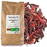 Flores de Hibisco secas BIO 1 kg - Bissap Karkadé Orgánico