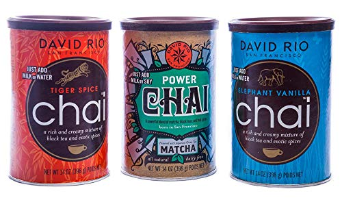 Chai Tea 3 er Set Tiger Spice, Power Chai, Elephant Vanille