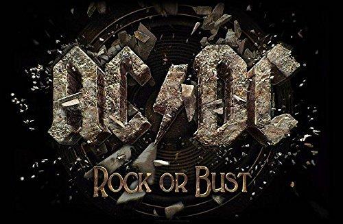 Rock Or Bust Textil Poster