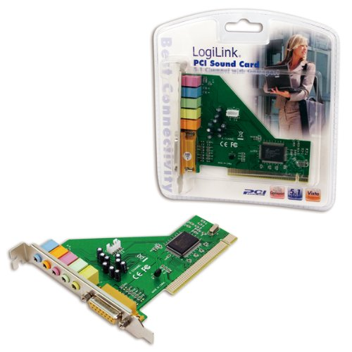 LogiLink PCI Soundkarte Dolby 5.1 6-Kanal mit Gameport
