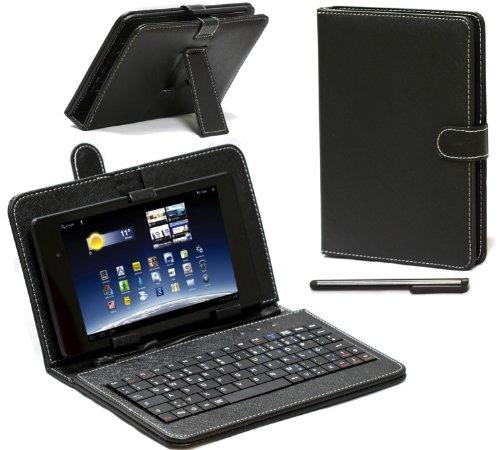 Navitech Odys Connect 7 Pro 17,8 cm (7 Zoll) Tablet-PC Stand mit deutschem QWERTZ Keyboard mit Micro USB Uns Stylus