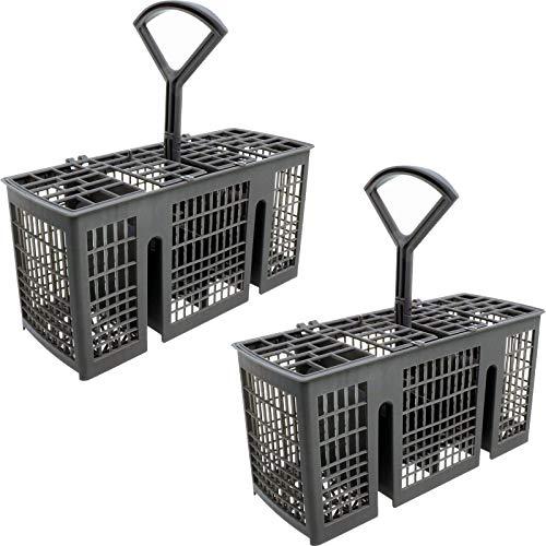 SPARES2GO Slimline - Cesta para cubiertos compatible con lavavajillas Indesit (227 mm x 118 mm x 95 mm, 2 unidades)