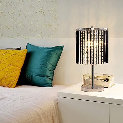 FJC Lámpara De Mesa De Cristal Sencillo Y Moderno Piso De Cabecera Creativo Estudio Cálido Dormitorio De La Lámpara De Tabla Llevada Lámpara De Mesa De 25 * 47 Cm