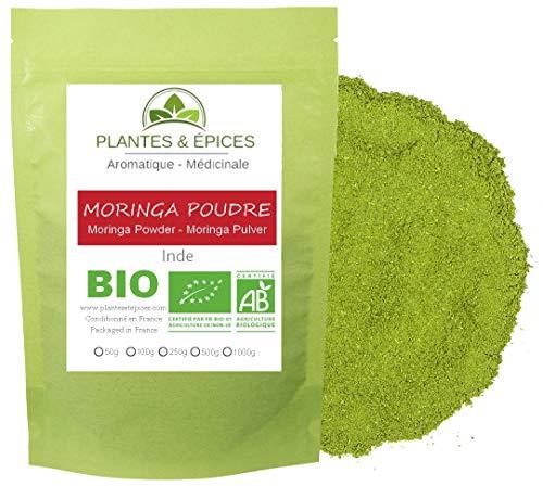 Plantes & Epices - Moringa Oleifera en Poudre BIO, Organique pure et 100% naturelle (250g)