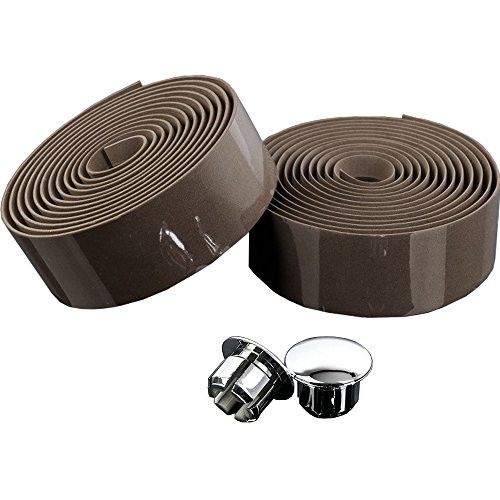 knowing Cinta de Manillar de Bicicleta, Bicicleta de Carretera con Cinta, Wrap con Bar Plugs, 2 Pcs (Brown)