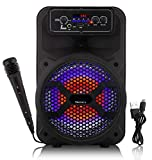 Tronica JHAKAAS 8-inches Bluetooth Karaoke Party Speaker Powered by a Rechargeable Battery