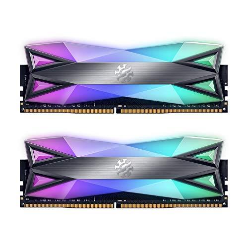 XPG Spectrix D60G - Memoria RAM DDR4 RGB para Juegos (3200 MHz, 16 GB, Doble Paquete)