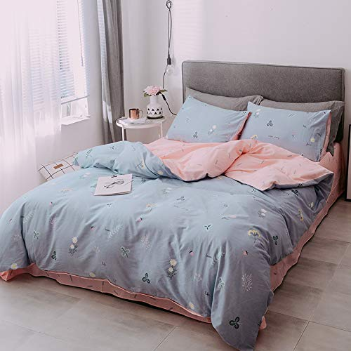 GYHJG 4Pcs Bedding, Four-Piece Cotton Sheet, Soft And Comfortable Double Bed, Four-Piece Cotton