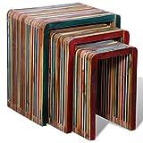 Questo set 3 tavolini colorati in legno anticato è un accessorio sempre moderno per la tua casa. I tavolini possono essere usati come tavoli laterali, tavolini da caffè, supporti per lampade / piante ecc. Sono impillabili, quindi puoi risparmiare tan...