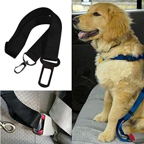Hallenwerk 1x Verstellbare Reißfester Sicherheitsgürtel Auto-Gurt für Hunde mit Karabiner & Bolzenhaken zum Anschnallen Ihres Haustiere für mehr Sicherheit während der Fahrt