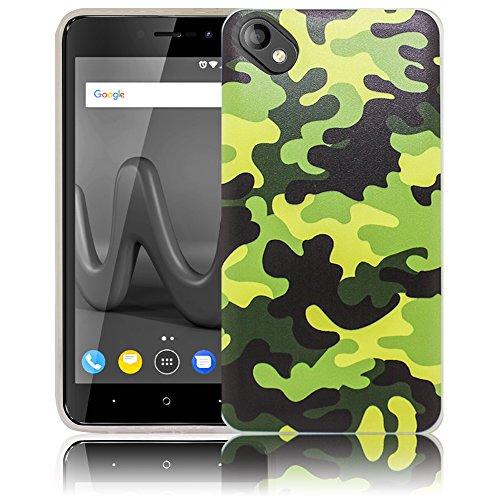 thematys Passend für Wiko Sunny 2 Plus Camouflage Handy-Hülle - Silikon - staubdicht, stoßfest und leicht - Smartphone-Case Wiko Sunny 2 Plus