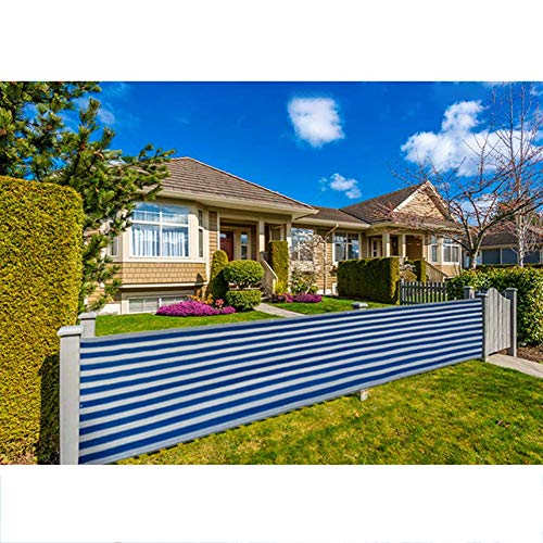 GZHENH Balcony Privacy Protection Cover Privacy Fence Opaque Weatherproof Guardrail Used For Apartment Railing Garden Fence (Color : Blue, Size : 0.9x5m)