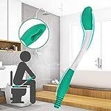 DURANTEY Ausili per Toilette Strumento di Aiuto per WC Pinze per Carta Igienica Bagno Manico di Forma Ergonomica 38cm Wipe Helper Aiuto per Self-Wipe Ausilio per WC per Disabili Anziani Portatori