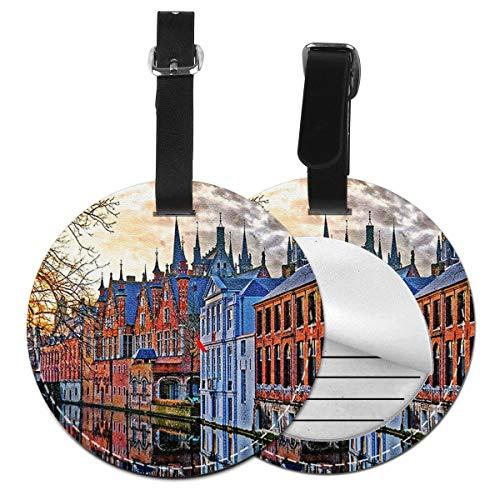 Etiquetas para Equipaje Bolso ID Tag Viaje Bolso De La Maleta Identifier Las Etiquetas Maletas Viaje Luggage ID Tag para Maletas Equipaje Brujas Bélgica