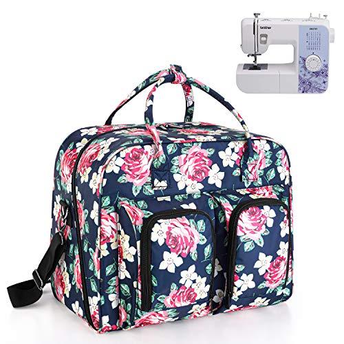 Teamoy Bolsa para Transportar la Máquina de Coser, Bolsa para Máquina de Coser, Bolsa de Protección para Máquina de Coser, Peonía Azul